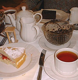 Modern English tea table.
