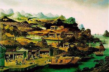 Старинная китайская чайная картинка